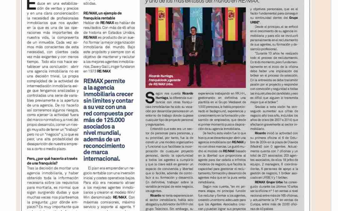 Un ejemplo de franquicia inmobiliaria rentable.RE/MAX España.