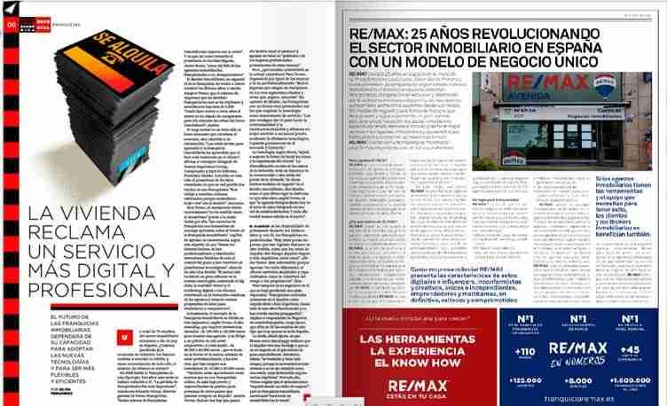 REMAX: 25 años revolucionando el sector inmobiliario en España con un modelo de negocio único